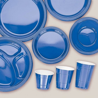 Bright Royal Blue Tableware